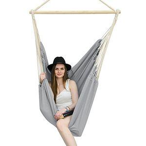 Angebote für -amanka xxl hängesessel 185x130cm hängestuhl 2 personen hängesitz bis 150 kg baumwolle hängematte inkl 360° swivel hängeschaukel lilac grau