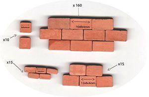 Angebote für -backsteine 16x8x4mm12x8x4mm8x8x4mm4x8x4mm für steinbaukasten 200 stück ziegelrot für modellbau