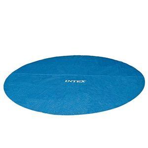 intex solarabdeckplane für easy frame pool isolierend blau ø 366 cm