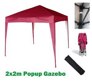 Buy mcc 2x2m pavillon gartenpavillon festzelt komplettset pavillon party zelt rot