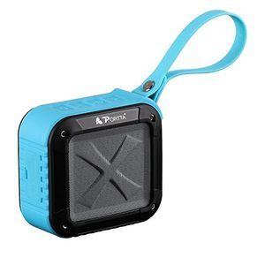 portta speaker bluetooth 41wasserdicht tauchpumpe lautsprecher tragbar outdoor speaker wireless weatherproof mit mikrofon nfc sd papier blue
