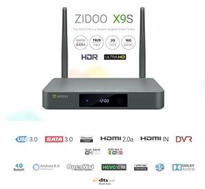 deals for - zidoo® x9s android tv box android 60 quad core 2g16g dual band wifi 1000mbps lan hdr usb30 hdmi in recoder sata 30 bluetooth media player