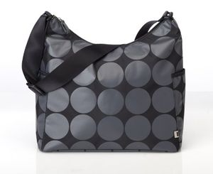 ofertas para - oioi charcoal dot bolso cambiador con accesorios y forro color verde diseño de lunares color gris