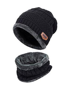 deals for - zzlay kinder winter dicke beanie hut schal set slouchy warmen schnee knit skull cap