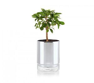 deals for - philippi planter selbstbewässender blumentopf m borosilikatglas verchromt baumwolldocht durchmesser 11 x 14 höhe cm
