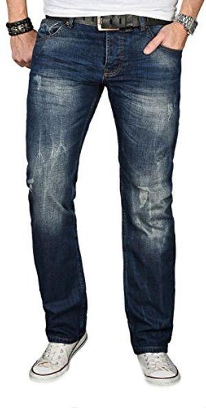 alessandro salvarini a salvarini designer herren jeans hose jeanshose regular comfort gerades bein