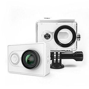yi action kamera gebündelt mit wasserfestem gehäuse 16mp 2k 1080p60fps mit 24g wifi bluetooth 40 weiß