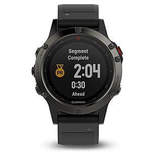 Top Garmin Fenix 5- Reloj multideporte, con GPS y medidor de frecuencia cardiaca, lente de cristal y bisel de acero inoxidable, 47 mm, cinta negra Guía