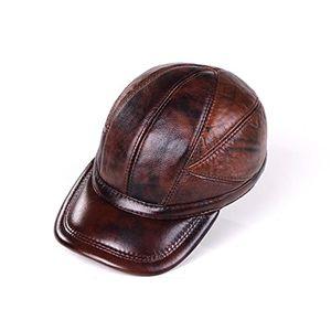 Angebote für -junes young herren leder baseball cap mit ohrenschützer leder kappe basecap snapback wintermütze