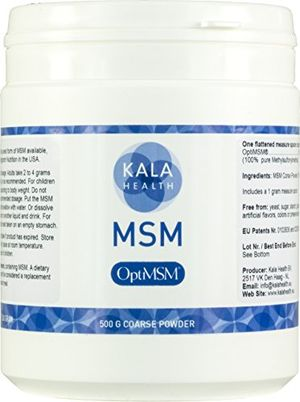 Buy Kala Health - OptiMSM Powder Coarse Flakes (500 g Container). This Pure MSM Supplement is the ONLY Methylsulfonylmethane Made in the USA - The Organic Crystals are Free of any Additives ofertas Especiales
