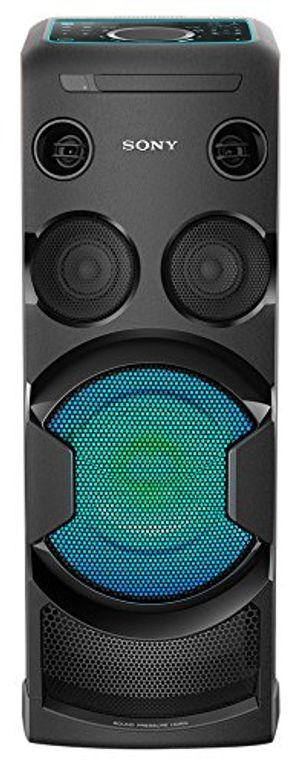 Review for sony mhc v50d all in one high power audio system mit partylichteffekten und sound pressure horn cddvd wiedergabe bluetooth nfc usb mega bass karaoke schwarz