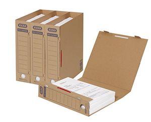 Angebote für -elba 100421088 archivordner tric system 30er pack mit verschlusslasche archivaufdruck und griffloch naturbraun für lose blatt ablage lieferung ohne bügel