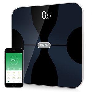 Calientes RENPHO Báscula corporal digital inalámbrica con App para Android e IOS para administrar el peso corporal, grasa corporal, agua, músculos, IMC, BMR, masa ósea y grasa visceral antes de compra