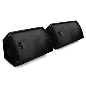 malone aktiv monitor lautsprecher aktivboxen aktivlautsprecher pa box 1100 watt mit 30cm 12 zoll subwoofer und 4x mic in 5 band eq flansch