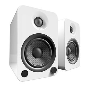 deals for - kanto yu4 regallautsprecher mit bluetooth und phono vorverstärker glänzend weiß