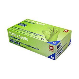 Angebote für -style apple by med comfort apfelgrüne nitrilhandschuhe puderfrei 100 stück größe wählbar m