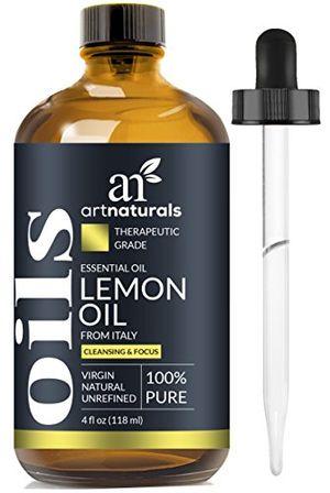 ArtNaturals Aceite Esencial De Limón - 120 ml - Set de 3 unidades. Incluye Nuestros Aceites Aromáticos de Signature Zen Y Chi De 10 ml Cada Uno. De Grado Terapéutico. 100 % Puro Y Natural opinión