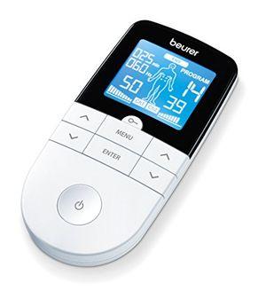 ofertas para - beurer em49 electroestimulador digital masaje ems tens pantalla lcd 2 canales 4 electrodos autoadhesivos