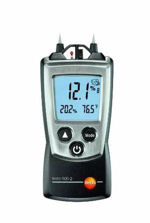 testo 0560 6062 606 2 handliches holz materialfeuchte messgerät mit integrierter feuchte messung und ntc luft thermometer inklusive schutzkappe