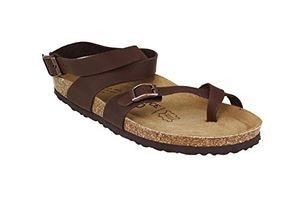 joe n joyce yana leder geölt soft footbed sandalen normal braun size 39 uk w 5