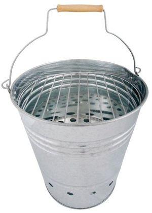 deals for - esschert design bbq eimer grilleimer grillkübel feuerkübel mit griff holzelement am griff 34 cm hoch ø 305 cm