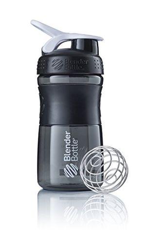 ofertas para - blenderbottle sportmixer botella de agua botella mezcladora de batidos de proteínas con batidor blenderball libre de bpa tritan 590ml negroblanco