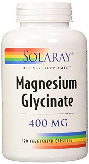 Comprar Solaray. Suplemento dietético, glicinato de magnesio, 400mg por 4cápsulas, 120en total antes de compra