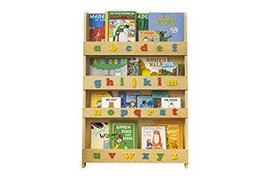 Angebote für -tidy books originale kinder bücherregal mit alphabet buchcover werden präsentiert schmales regal fürs kinderzimmer ideale kinderbücher aufbewahrung 115 x 77 x 7 cm natur mit alphabet