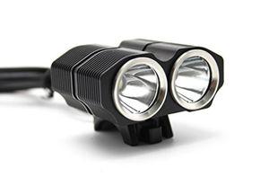 Hot wewom x2 led fahrradbeleuchtung 2400 lumen mit schnellbefestigung und 4800 mah lithium ionen akku schwarz
