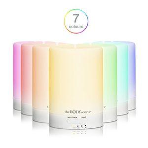 ofertas para - 100ml difusor de aromas y humidificador ultrasónico con 7 ledes que cambian de color aromaterapia para casa oficina bebé baño y spa