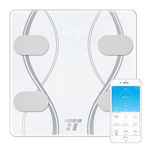 Barato Báscula Baño TaoTronics, Báscula Baño Digital Bluetooth 4.0 con Análisis Corporal por App de 12 datos (Peso, Grasa, Agua, Músculo y más), 12 Usuarios, 4 Sensores, para iOS y Android - (30 meses de garantía) Mejor oferta