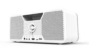 photos of Dashbon Flicks 140 Kabelloser Boombox HD Projektor (HDMI, Bluetooth, AUX, USB, 700 ANSI Lumen, Kontrast 10000:1, HD Ready, 3 Wege Lautsprecher, Vertikale Trapezkorrektur) Weiß Sonderangebote Kaufen   model CE