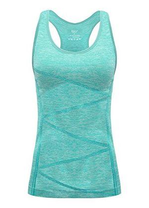 Angebote für -disbest damen sport tanktop sport fitness running tops pro ärmellos quick dry training tank tops grün 38