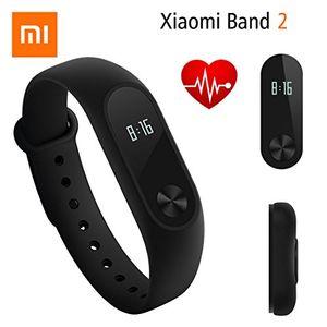 Calientes Fitness Tracker,Original Xiaomi Mi Band 2 Pulsera Bluetooth 4.0 con pantalla OLED Ritmo cardíaco inteligente resistente al agua Smart Electronics Sports Pedometer para mujeres, niños y hombres Mejor oferta
