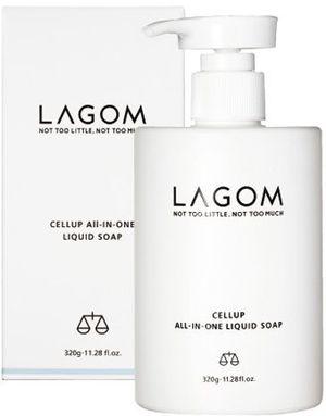 ofertas para - jabón líquido todo en uno lagom all in one liquid soap cosmética coreana jabón para cara cuerpo y cabello 320 gr