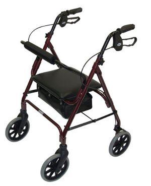ofertas para - patterson medical andador ligero de aluminio con ruedas color rojo