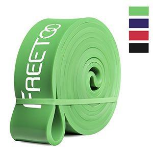 FREETOO Bandas de resistencia de goma fitness cinta de resistencia para el entrenamiento de fuerza/músculos/ejercicio/Home gimnasios en 5 puntos fuertes (Verde) ofertas de hoy