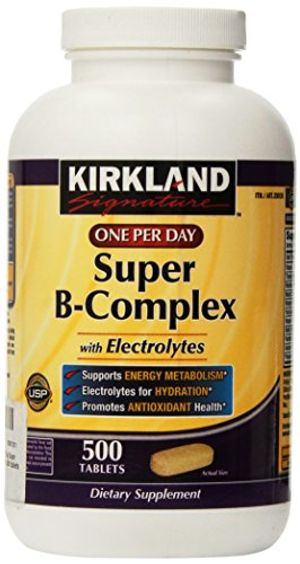 Kirkland Signature One Per Day Super B-Complex with Electrolytes,500 tablets by Kirkland Hot oferta