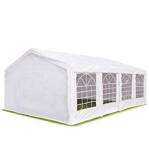 Angebote für -hochwertiges partyzelt 4x8 m pavillon zelt 240gm² pe plane gartenzelt festzelt bierzelt wasserdicht weiß
