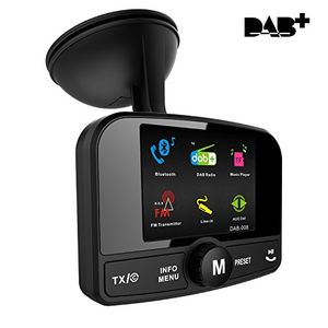 Angebote für -firste car dab radio tuner adapter portable auto dab digital radio audio adapter bluetooth fm transmitter wireless music streaming freisprecheinrichtung mit aux inout 24 tft farb display