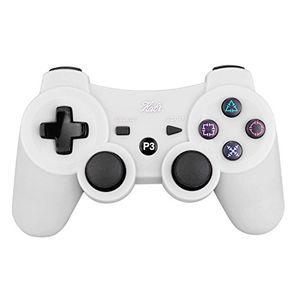 kabi wireless bluetooth game romote controller mit 6 axis double shock bonus kostenloses ladekabel für ps3 playstation 3 controller neue version weiß