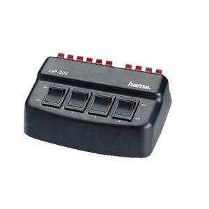 Buy hama lautsprecher umschaltbox 4 fach umschalter für vier lautsprecherpaare