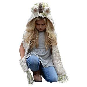 Angebote für -einhorn mütze kinder strickmütze mit schal wintermütze schal kappen hüte joyorun grün