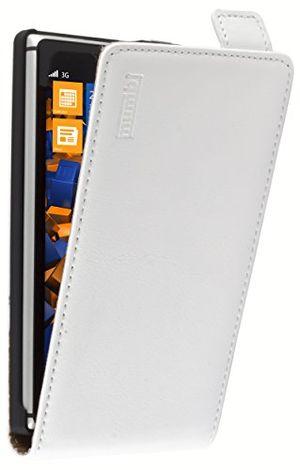 Angebote für -mumbi premium leder flip case für nokia lumia 925 tasche weiss