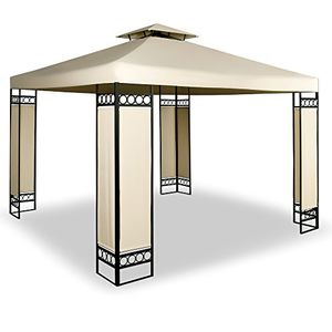 deals for - deuba® pavillon 3x3m creme ✔ 9m² ✔ wasserabweisend ✔ dachhaube ✔ festzelt ✔ partyzelt