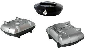 deals for - amphony lautsprecher funkset mit zwei funkverstärkern modell 1800 macht zwei lautsprecher kabellos 2x80 watt 100 m reichweite an jede quelle anschließbar bessere funkübertragung als bluetooth