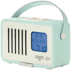 Angebote für -kitsound swing fm radio mit wecker alarmfunktion batterie oder netzbetrieben uk netzstecker hellblau