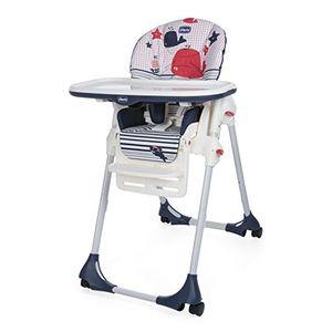 ofertas para - chicco polly easy trona amplia compacta y sencilla 4 ruedas para niños de 0 a 3 años color azul
