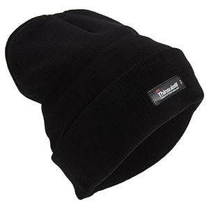 herren heatguard thermo thinsulate wintermütze einheitsgröße schwarz