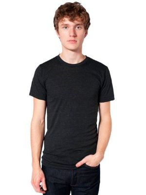 Angebote für -american apparel unisex tri blend short sleeve track shirt tri black l